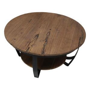 Konferenční stolek s deskou z recyklovaného teakového dřeva HSM collection Susan, ⌀85cm