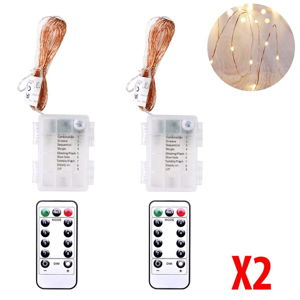Sada 2 LED světelných řetězů DecoKing, 2 x 60 světel, délka 6 m