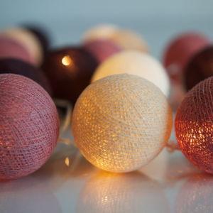 Svítící řetěz Irislights Dusty Pink,35světýlek