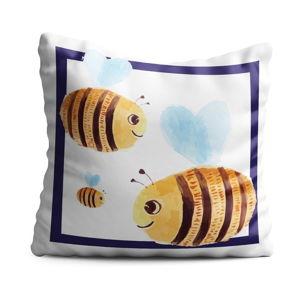 Dětský polštář OYO Kids Bees, 40 x 40 cm