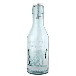 Skleněná láhev z recyklovaného skla na mléko Ego Dekor Authentic, 1litr