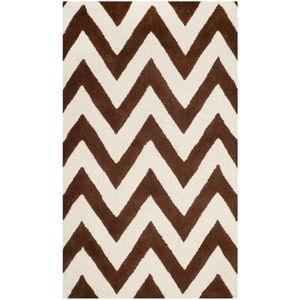 Hnědý vlněný koberec Safavieh Stella, 152 x 91 cm