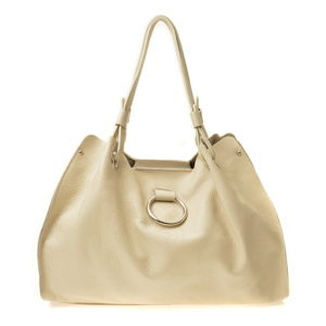 Béžová dámská kožená kabelka Sofia Cardoni Milano