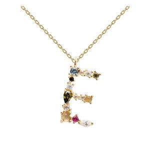Pozlacený náhrdelník PD PAOLA Monogram E