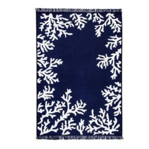 Modro-bílý oboustranný koberec Coral, 160 x 250 cm