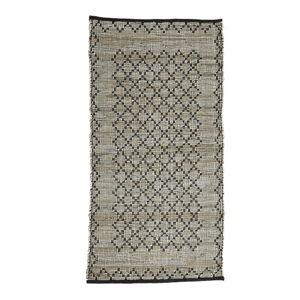 Šedý kožený koberec Simla, 240x170cm