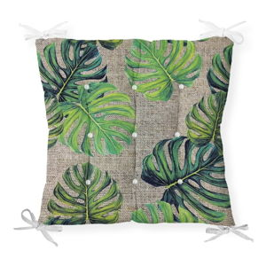 Podsedák na židli Minimalist Cushion Covers Green Banana Leaves, 40 x 40 cm