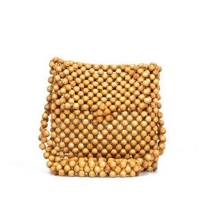 Hnědá dámská kabelka z dřevěných korálků Nina Beratti Mily Camel
