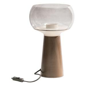 Hnědá kovová stolní lampa BePureHome, výška 37 cm