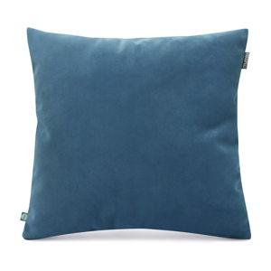 Modrý povlak na polštář se sametovým povrchem Mumla Velvet, 45 x 45 cm