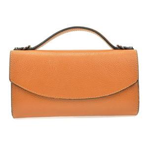 Hnědá dámská kožená kabelka Roberta M Pisa