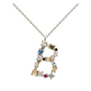 Stříbrný náhrdelník PD PAOLA Monogram B