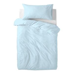 Světle modré dětské bavlněné povlečení Happy Friday Basic, 100x120cm