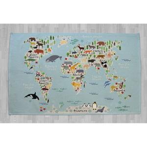 Bavlněný kobereček Little Nice Things Mapamundi, 140 x 90 cm