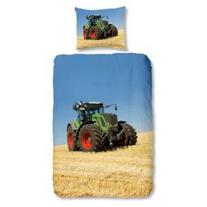 Dětské bavlněné povlečení na jednolůžko Good Morning Tractor, 140x200 cm