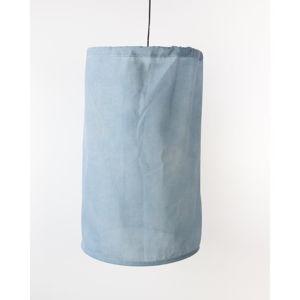 Modré svítidlo ze lnu a kovu Surdic, ø 35 cm