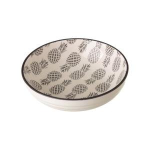 Šedo-bílá porcelánová miska Unimasa Pinna, ⌀12,9cm