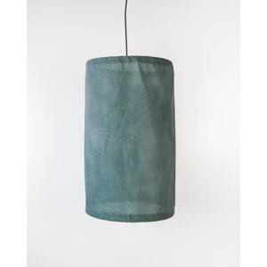 Zelené závěsné svítidlo ze lnu a kovu Surdic, ø 35 cm