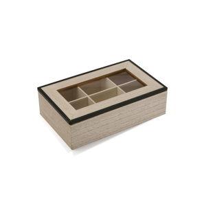 Dřevěný box na čaj Versa Erling