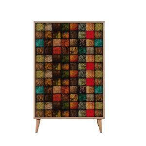 Variabilní dvoudveřová komoda Multibox Square, 127 x 80 cm