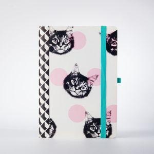 Zápisník s motivem koček Just Mustard Cat, 190stránek