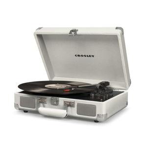 Bílý gramofon Crosley Cruiser Deluxe