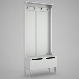 Bílá skříň se zrcadlem Ratto Floria