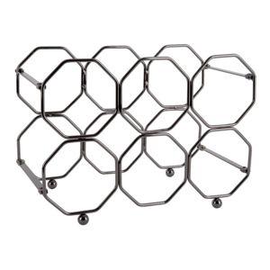 Šedý kovový skládací držák na víno PT LIVING Honeycomb