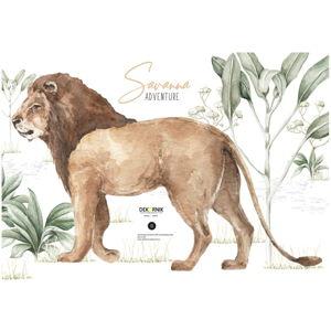 Nástěnná samolepka lva Dekornik, 67 x 43 cm
