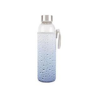 Skleněná láhev v neoprénovém obalu Kikkerland Drops, 600ml