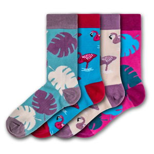 Sada 4 párů barevných ponožek Funky Steps Exotic, velikost 35 - 39