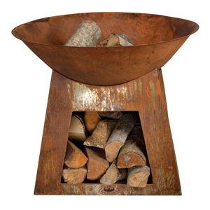 Kovové ohniště se zásobníkem na dřevo Esschert DesignCamping