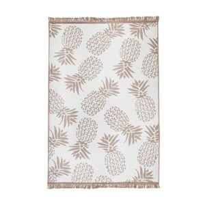 Béžovo-bílý oboustranný koberec Pineapple, 140 x 215 cm
