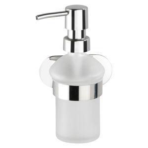 Samodržící dávkovač mýdla ve stříbrné barvě Wenko Orea