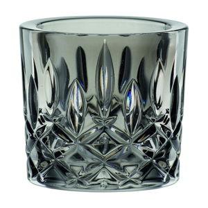 Šedý svícen z z křišťálového skla Nachtmann Noblesse