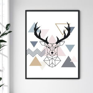 Nástěnný obraz v rámu North Carolina Frame Deer III, 30 x 40 cm