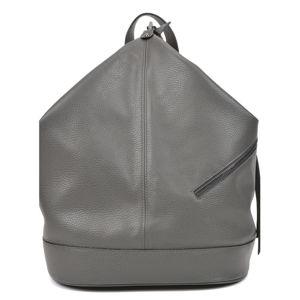 Dámský kožený batoh v šedé barvě Carla Ferreri Giorgia
