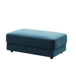 Tmavě modrá podnožka devichy Laure, 112x60cm