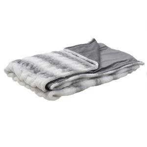 Světle šedá deka zumělé kožešiny InArt, 180x150cm