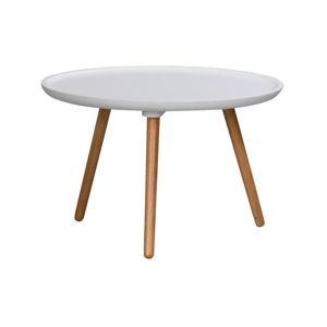 Bílý konferenční stolek Rowico Dellingr, ⌀ 55cm