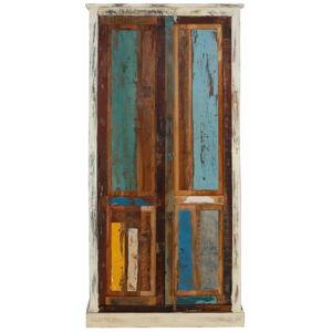 Dvoudveřová šatní skříň z exotických dřev Støraa Garza