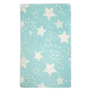 Modrý dětský protiskluzový koberec Chilai Star,140 x190