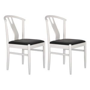 Sada 2 bílých jídelních židlí RGE Hugo