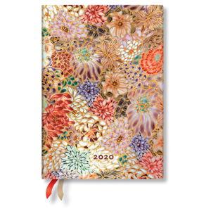 Vícebarevný diář na rok 2020 v tvrdé vazbě Paperblanks Kikka, 160stran