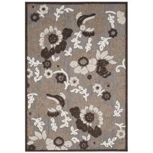 Hnědý koberec vhodný i na venkovní použití Safavieh Oxford, 231 x 160cm