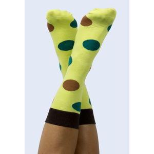 Žluté ponožky DOIY Avocado, vel. 37 - 43
