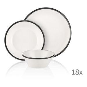 18dílný set porcelánového nádobí Mia Halos Black