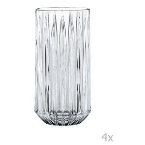 Sada 4 vysokých sklenic z křišťálového skla Nachtmann Jules Longdrink, 375 ml