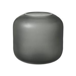 Šedá skleněná váza Blomus Bright,výška17cm