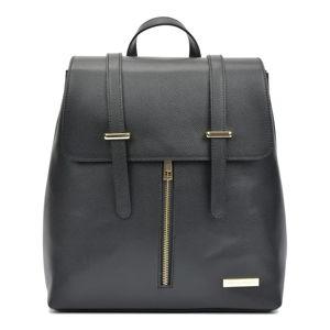 Černý dámský kožený batoh Sofia Cardoni
